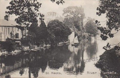 View Of River Terrace In St Neots In 1911 Painting Art Outdoor