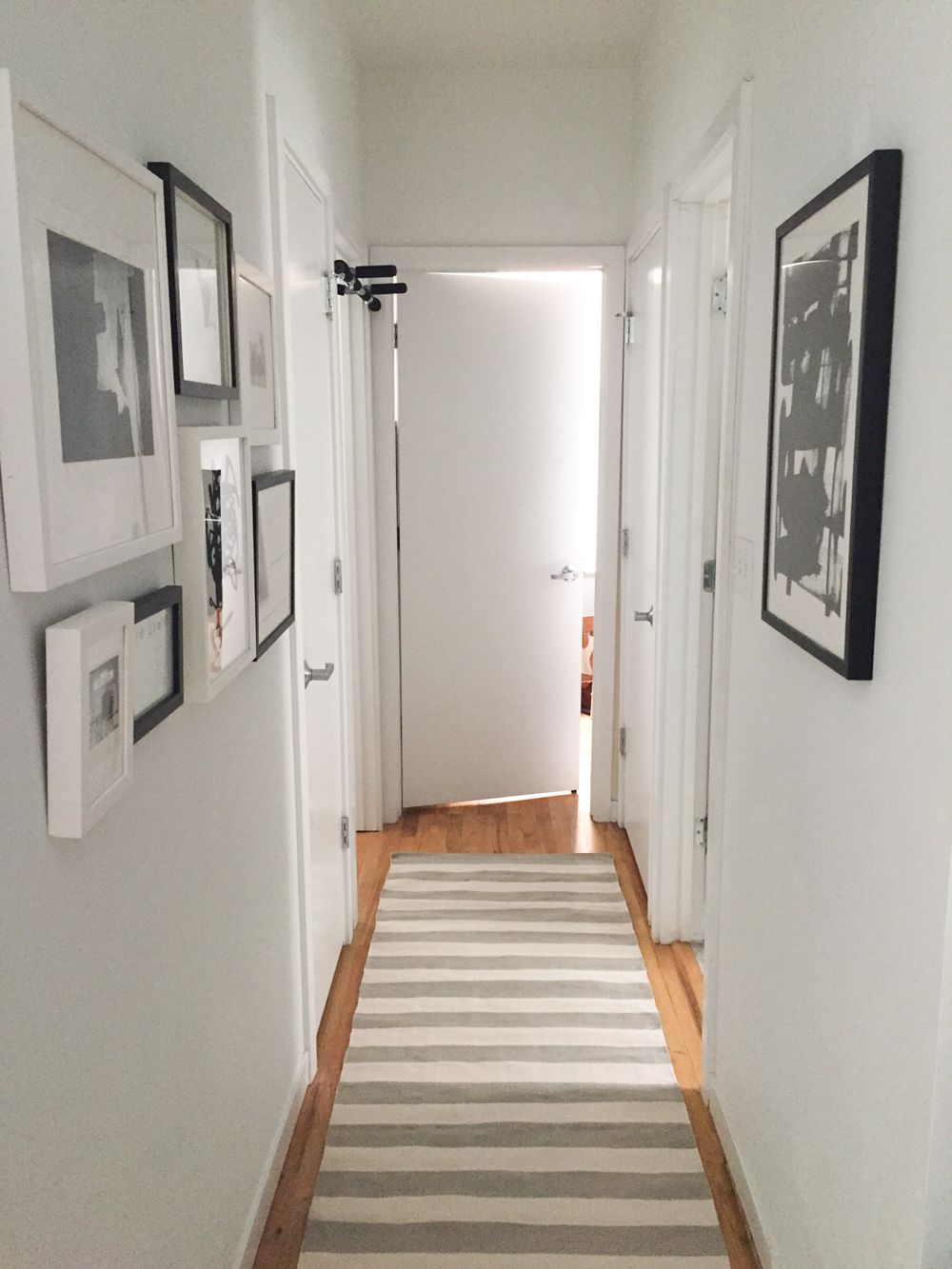 Narrow hallway colours  The Home Tour You Never Saw  Photo frame layout Apartments and