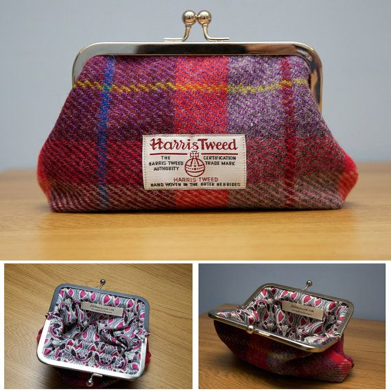 Harris Tweed Clasp Purse Handmade in Scotland by faithmonsoon, £20.00
