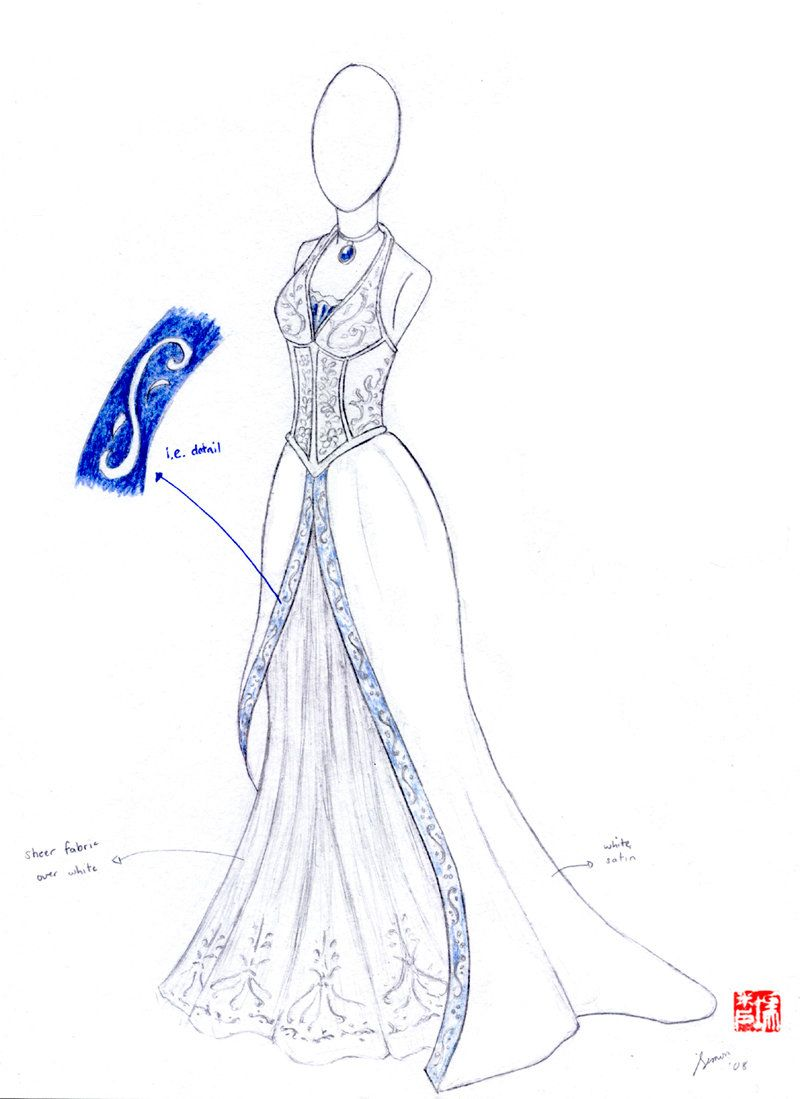 Wedding dress sketches by winterfall sketches pinterest