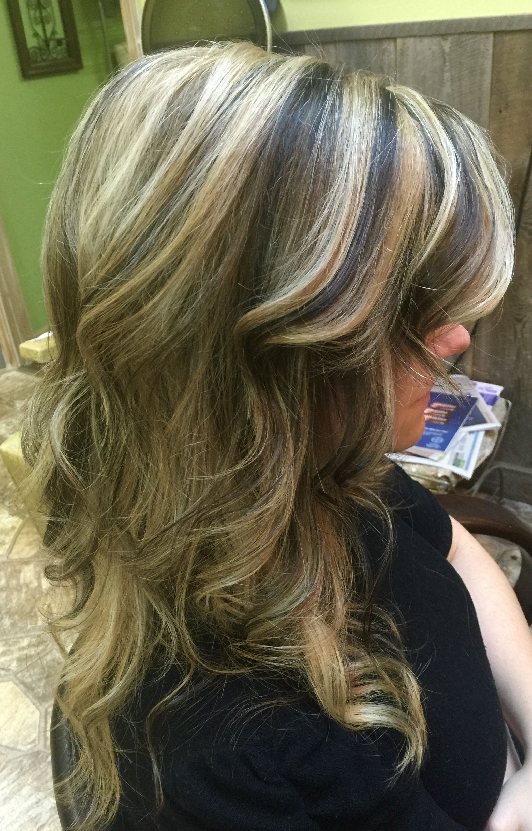 Chunky Highlights With Rich Dark Brown Undertones Hair By Kathy