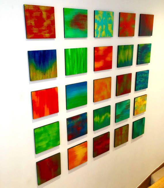 Wood Wall Art | Wall Decor | Colorful Art | Original Modern Art ...
