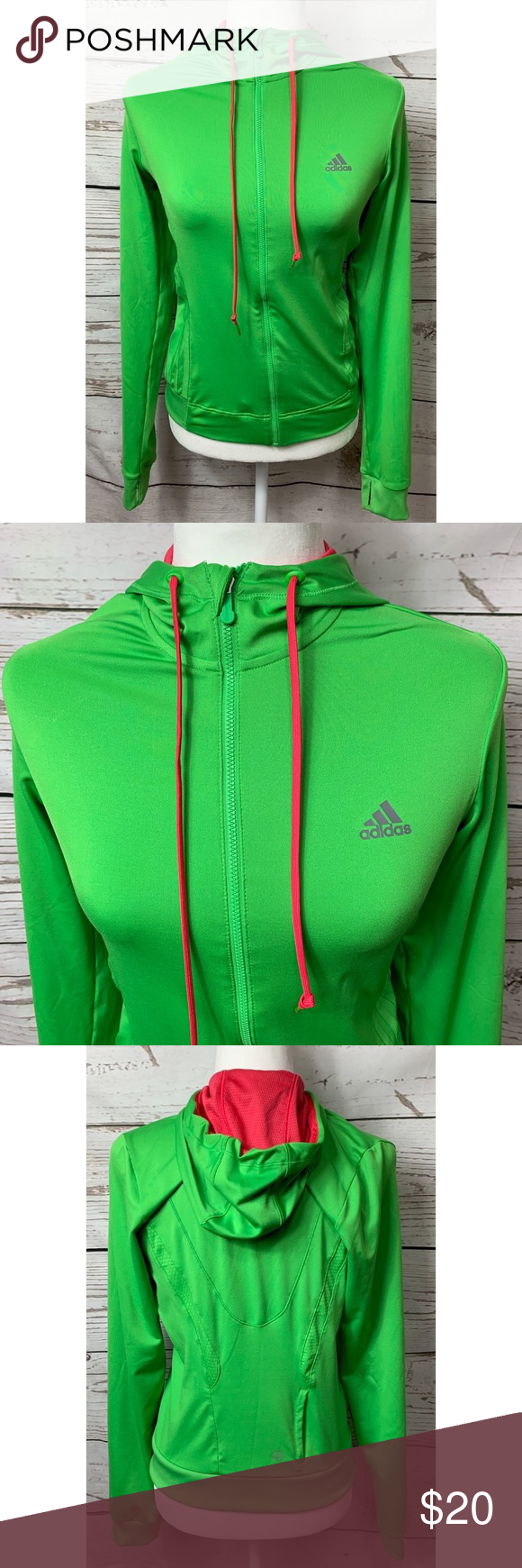 ADIDAS Olive Green Solid Z.N.E Fast Release Hooded Sweatshirt