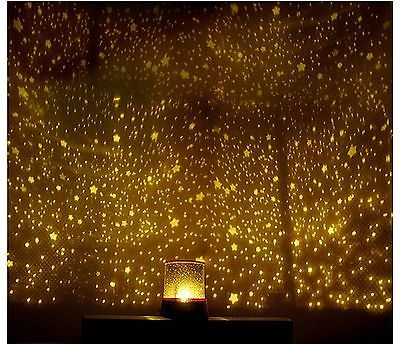 Led Galaxy Projector Night Romatic Cosmos Star Starry Night Light