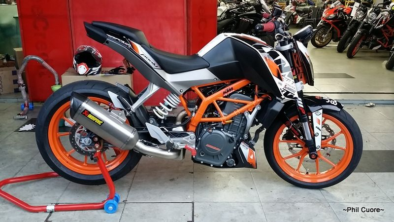 akrapovic exhaust page 12 ktm duke 390 forum ktm. Black Bedroom Furniture Sets. Home Design Ideas