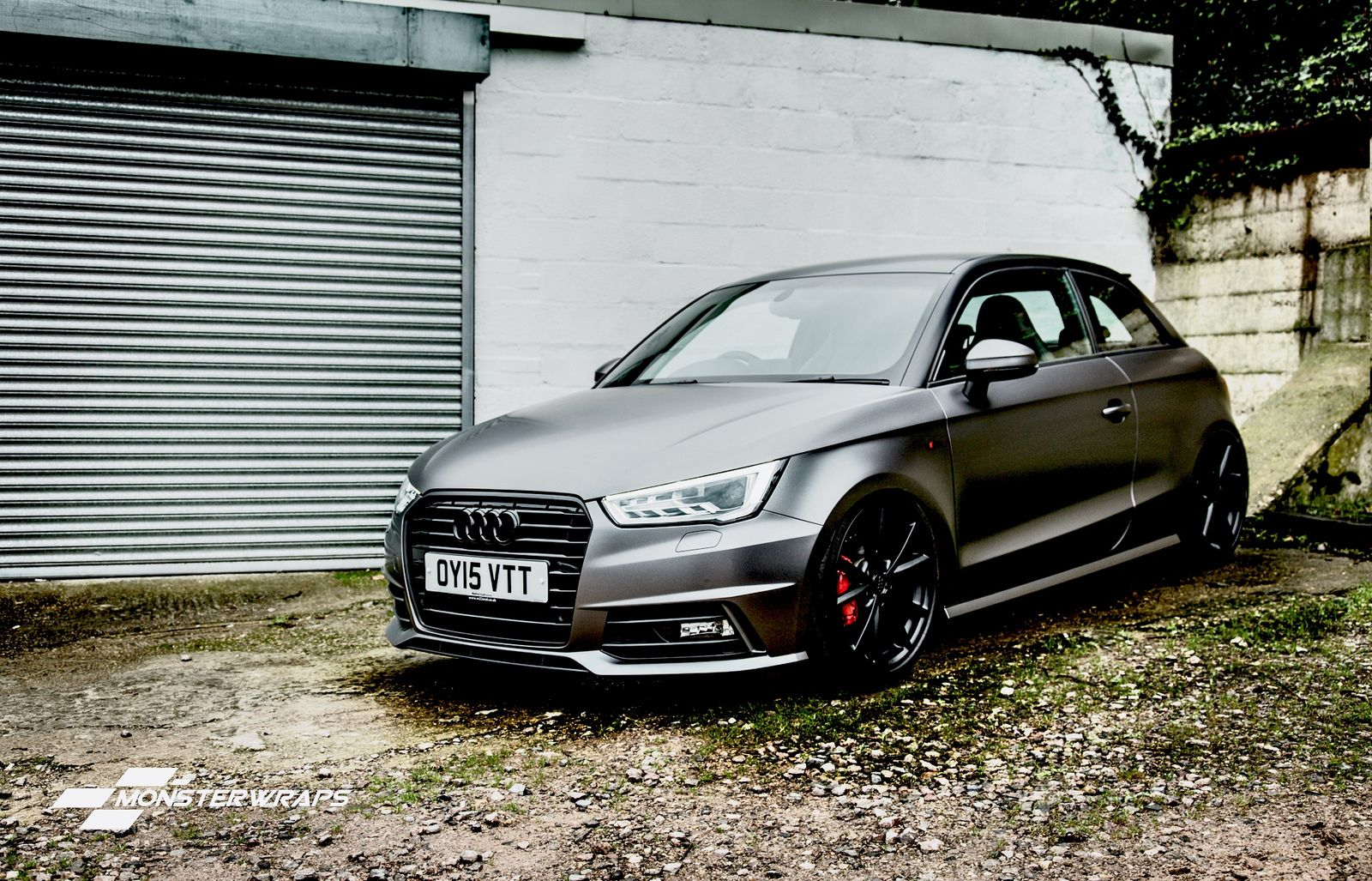 Audi A1 Satin Dark Grey Full Wrap Audi A1 Audi Audi Cars