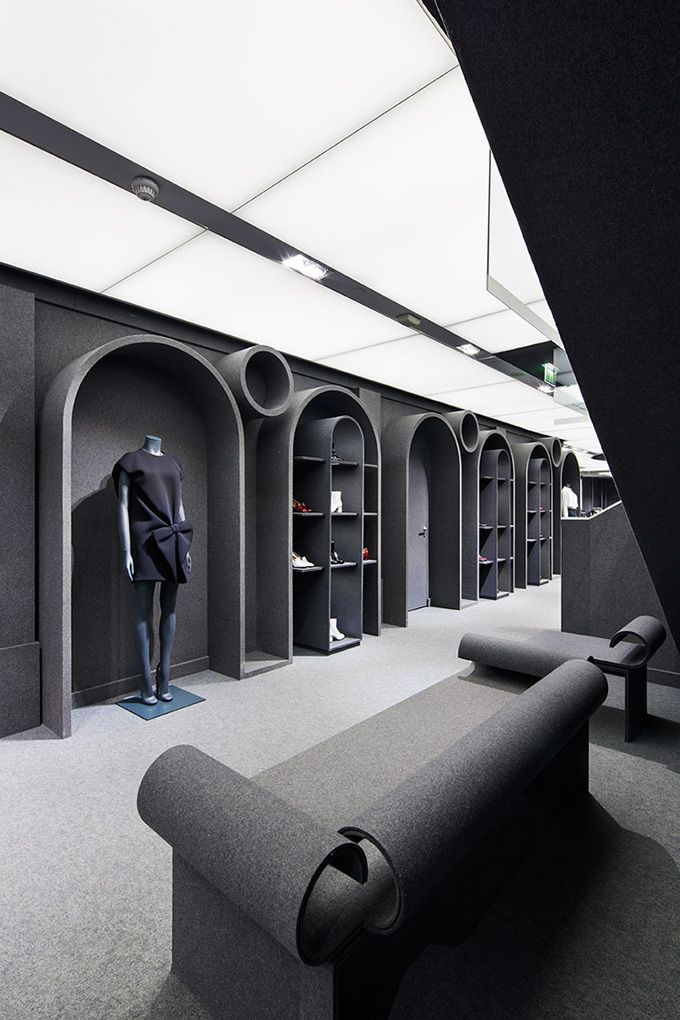 Viktor rolf flagship boutique paris retail for Raumgestaltung einzelhandel
