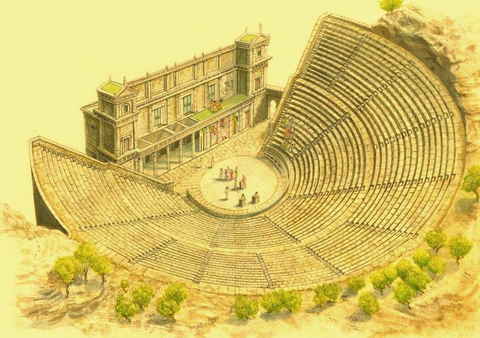 Greek_Theatre. Epidaurus Romanos, Historia