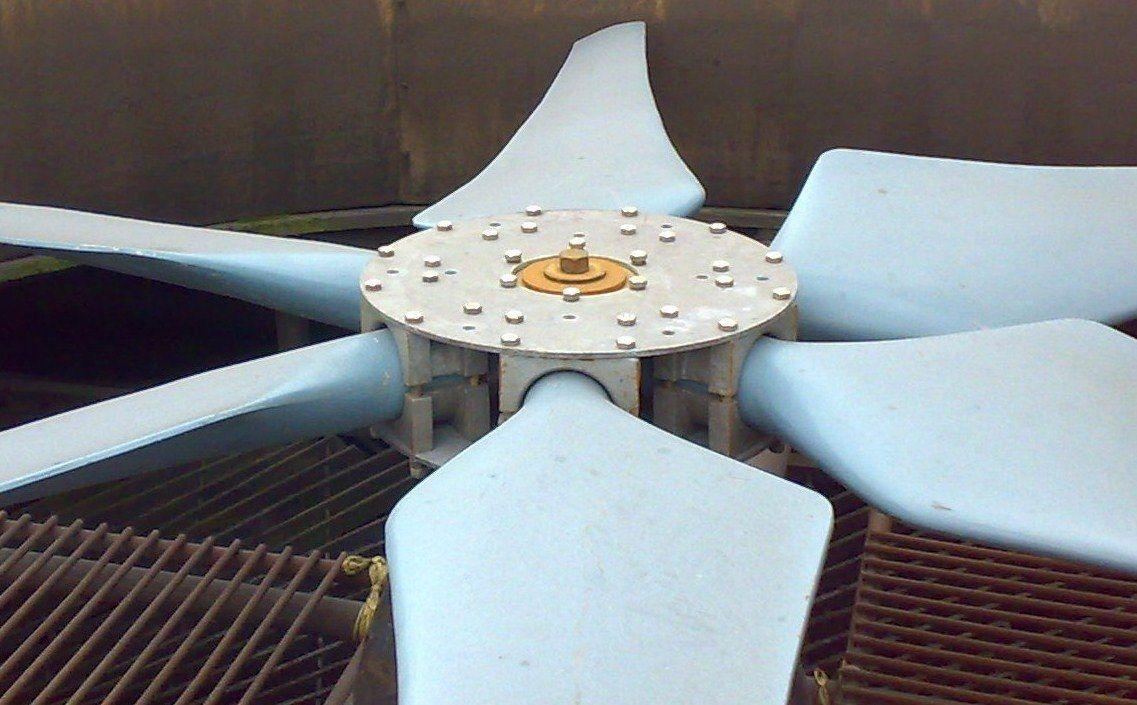 Cooling Tower Fan The Way Fan Blades Should Look Epoxy Repair