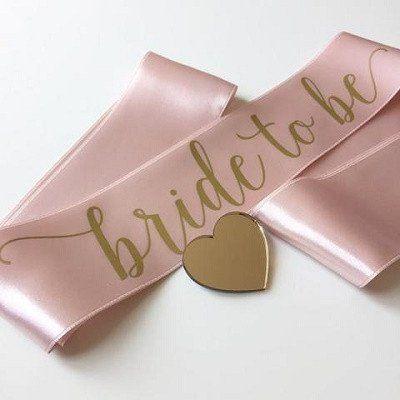Pink Bride To Be Sash Bride To Be Sash Bride Sash Bachelorette Pink Bride
