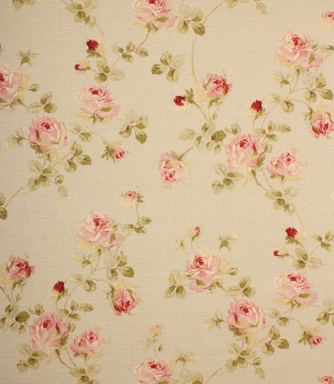 Beautiful Traditional Floral Fabric From Edinburgh Weavers