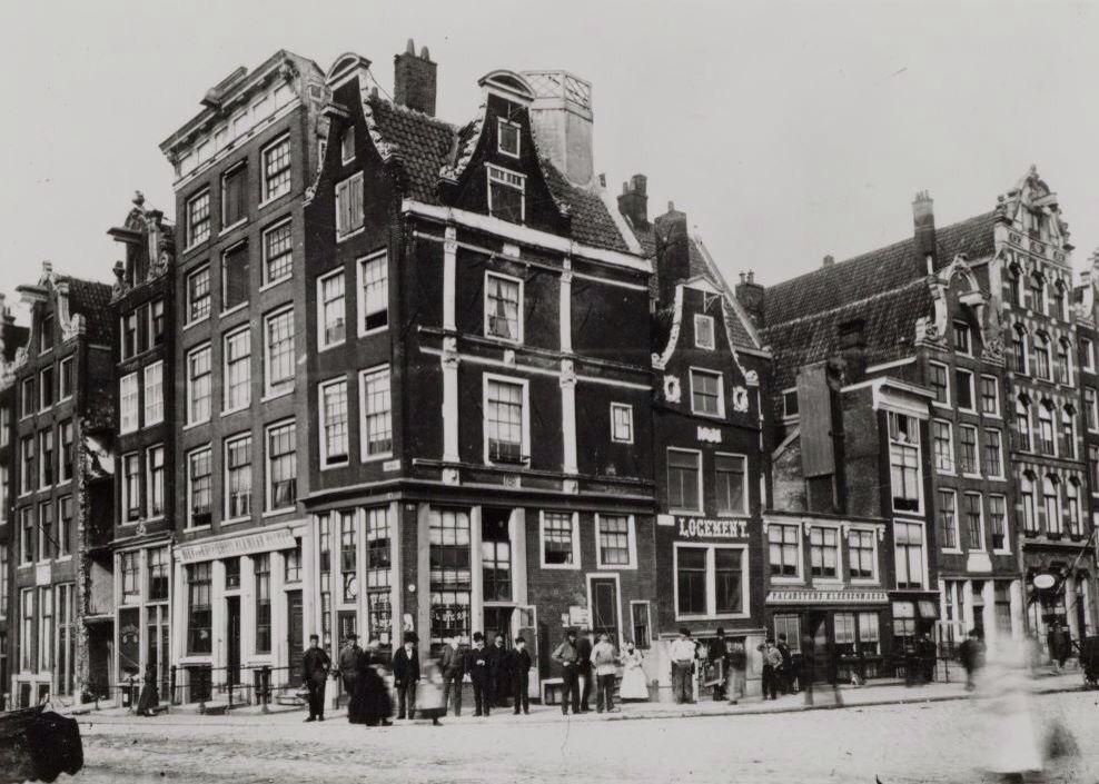 Prins Hendrikkade Hoek Damrak 1880 Tegenwoordig De