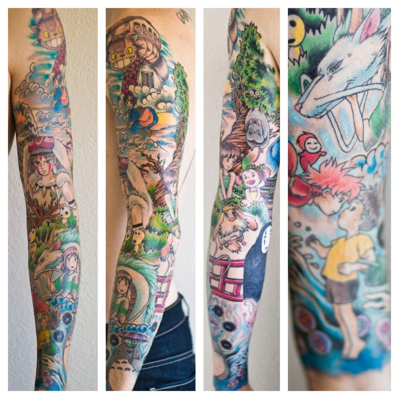 my miyazaki sleeve done by kimberly wall at classic tattoo on kim wall id=94607