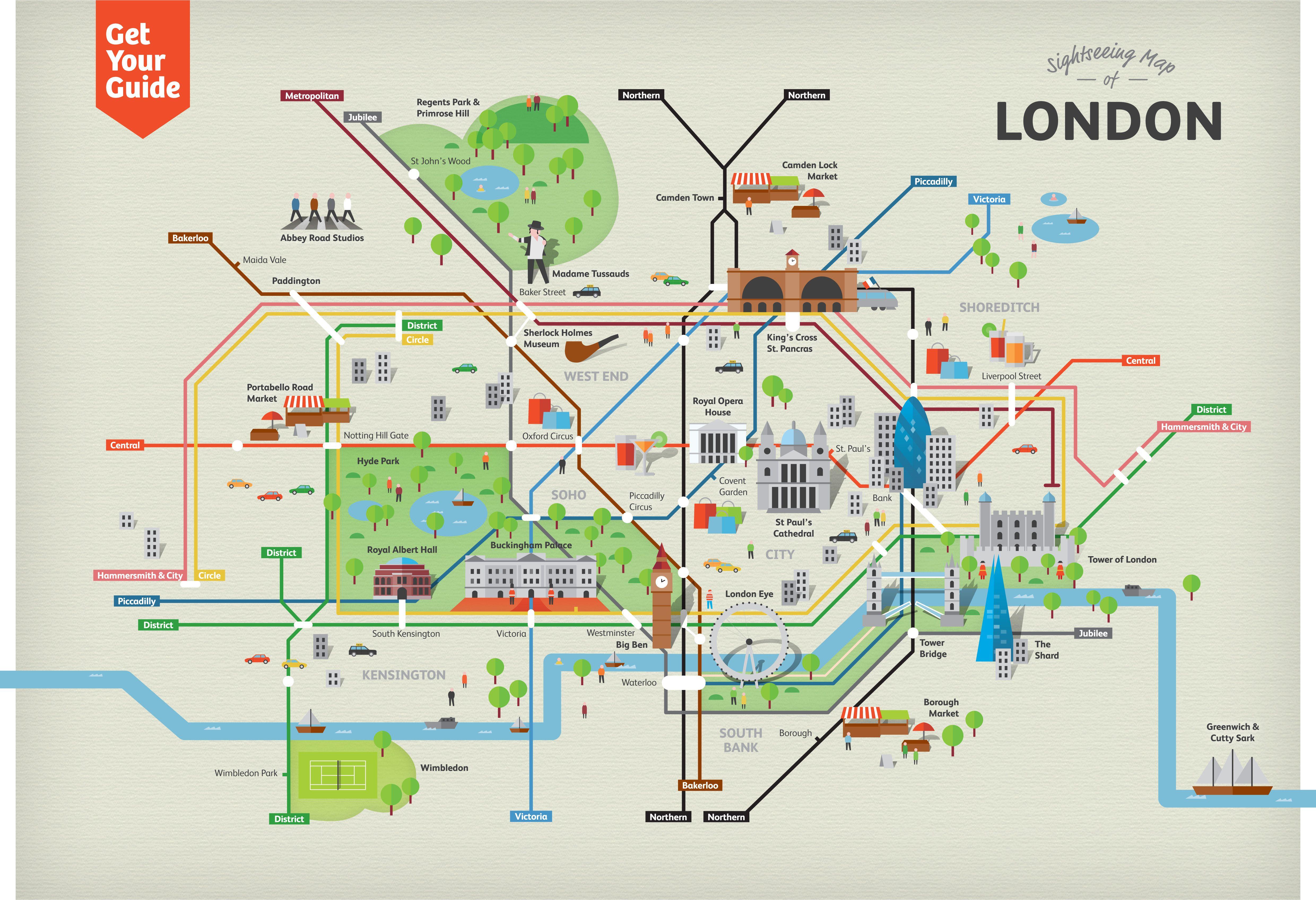 Cartina Turistica Londra Monumenti.Pin Su Viaggi