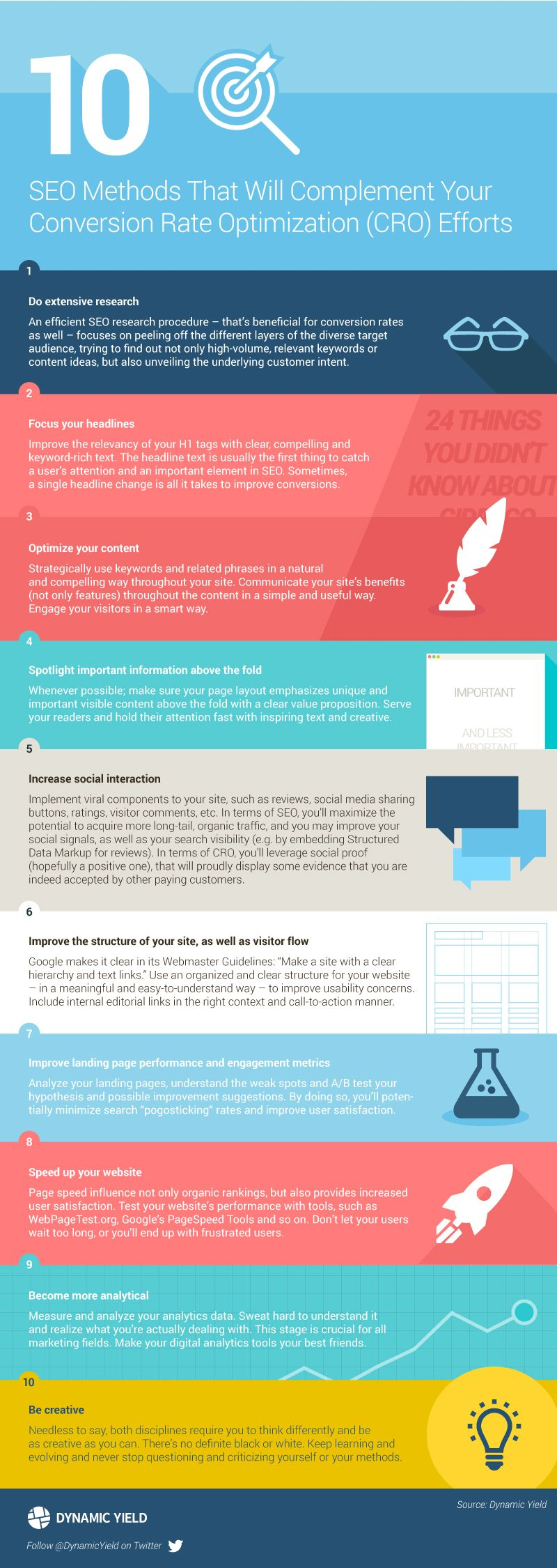 10 Ways Your SEO Can Complement Your CRO Work #infographic
