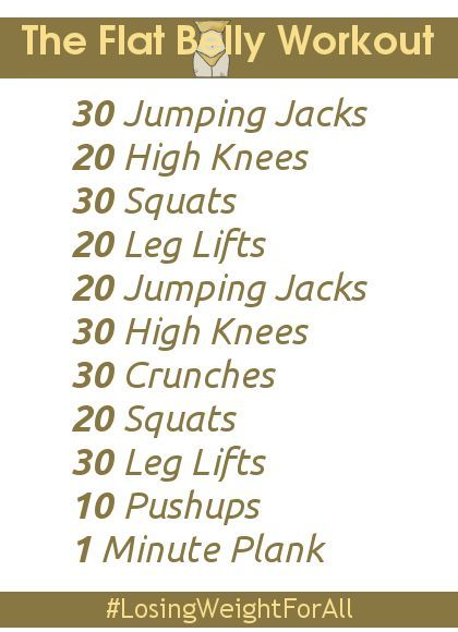 Workouts to lose belly fat in 2 weeks
