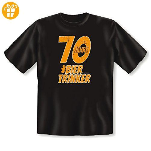 Geschenk Zum 70. Geburtstag   Fun T Shirt   70 Jahre Bier Trinker