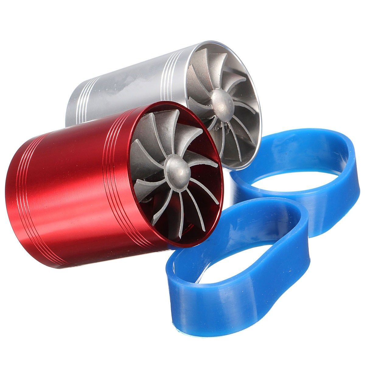Universal Car Turbo Supercharger Air Intake Dual Fan