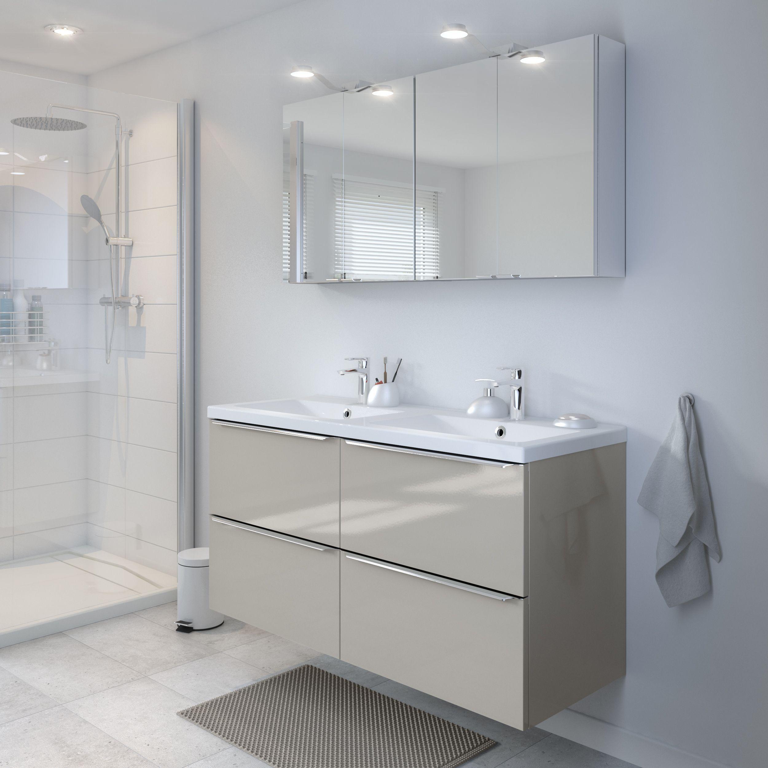 Goodhome Imandra Gloss Taupe Vanity Basin Unit W 1200mm Vanity Basin Goodhome Basin Unit
