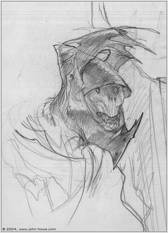 Moria Orc by John Howe (concept for The LotR movie)