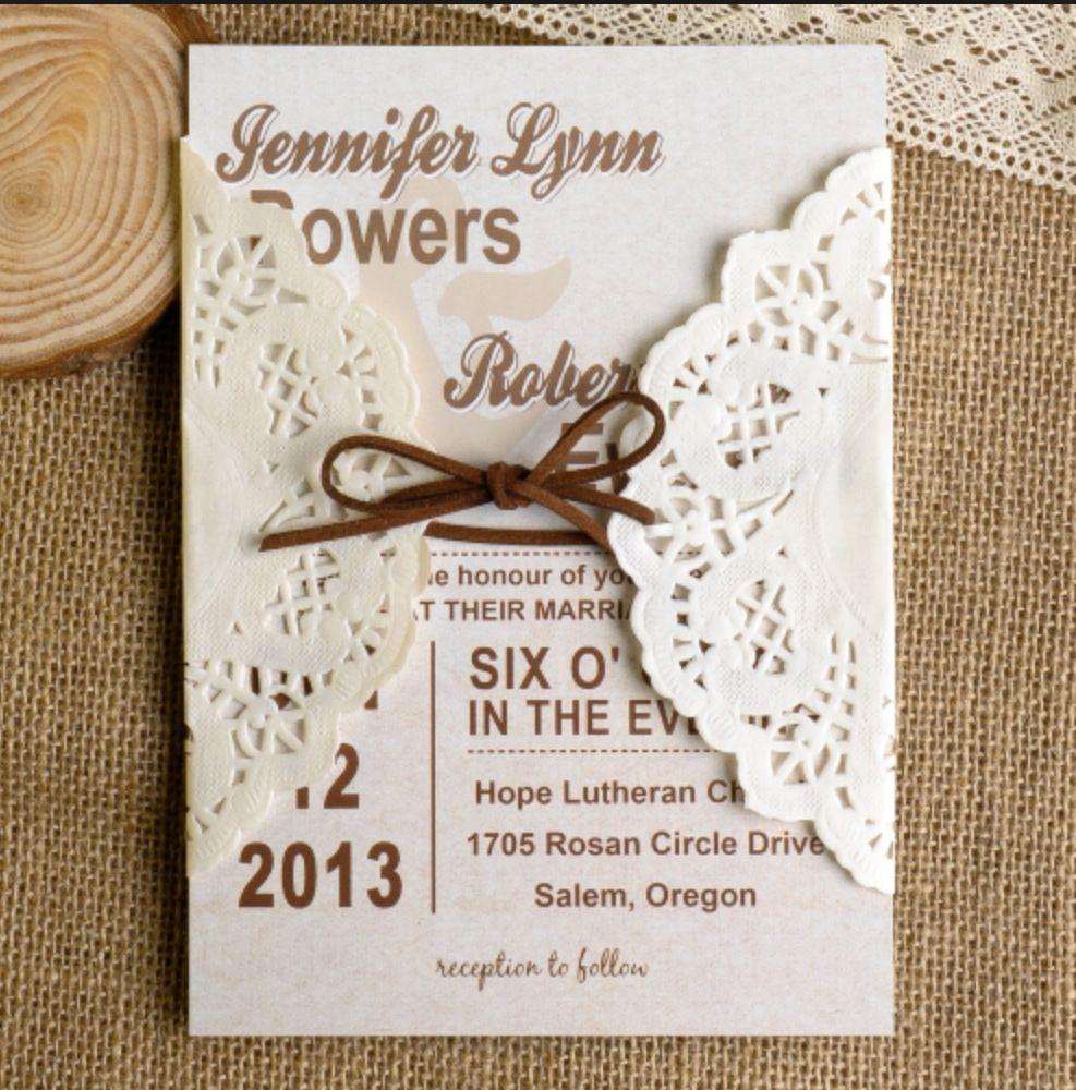 DIY Country Theme Wedding Invitation   Hannah\'s Wedding Ideas ...