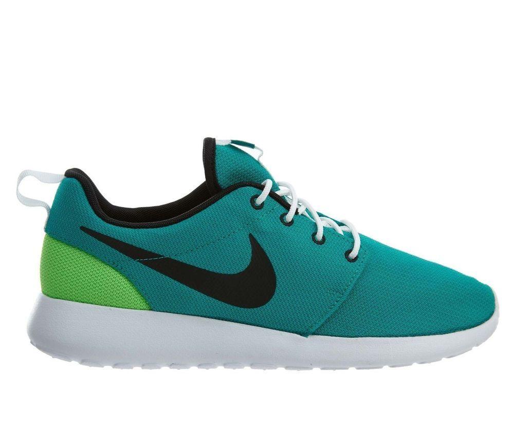 6e2cfb24888a Nike Roshe Run One Mens Shoes 14 Neptune Green Black  Nike  RunningShoes