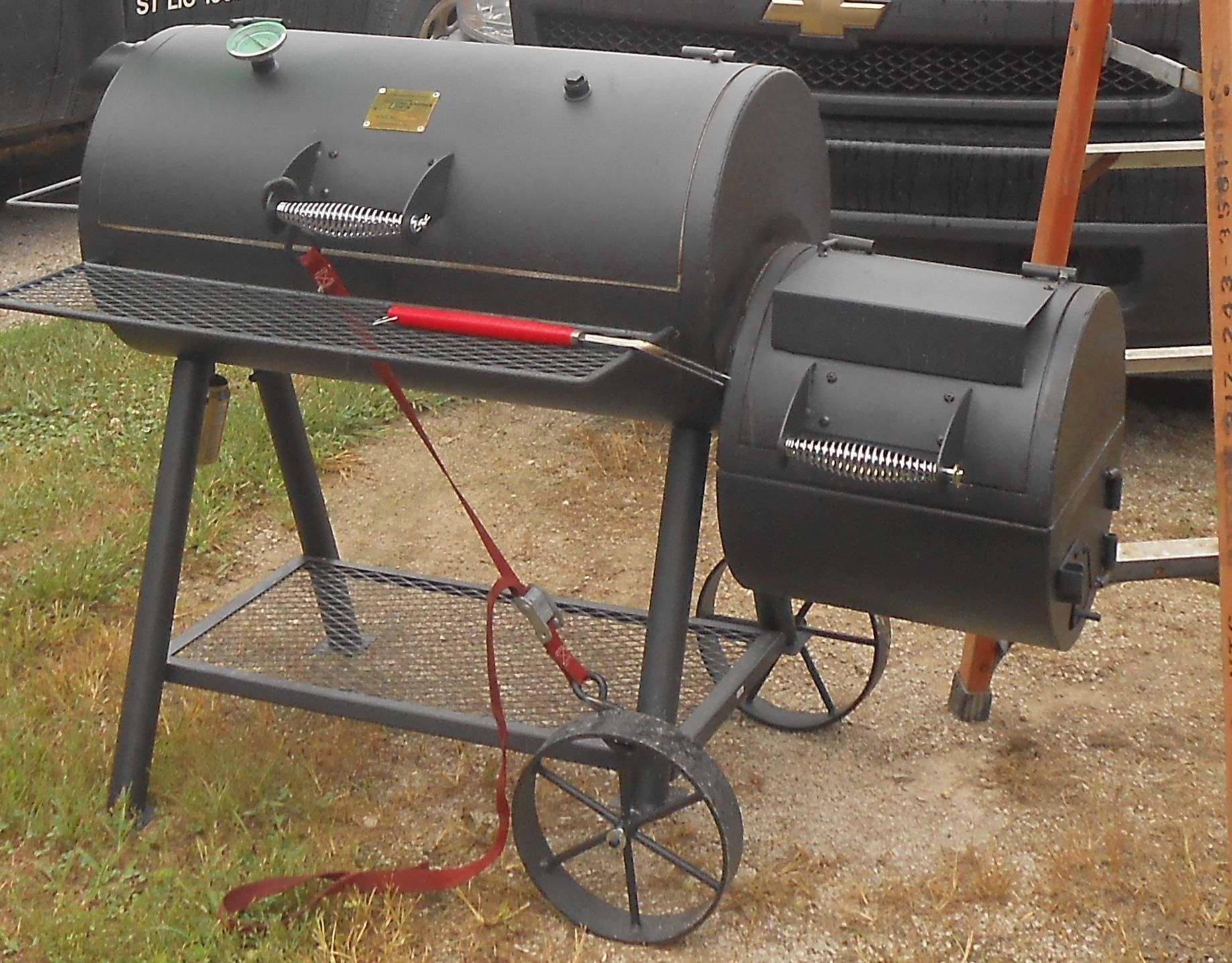 we love our oklahoma joes smoker smokers pinterest. Black Bedroom Furniture Sets. Home Design Ideas