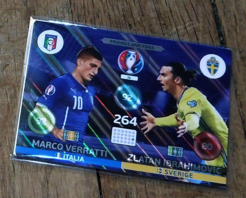 Panini Adrenalyn Euro 2016 Friends And Foes Verratti Ibrahimovic