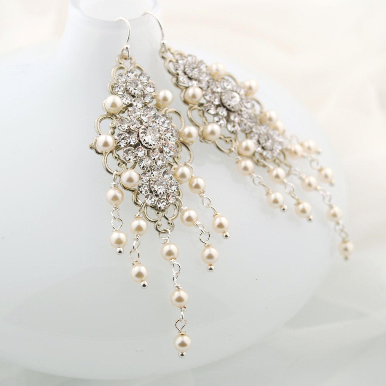 dramatic cascading chandelier earrings