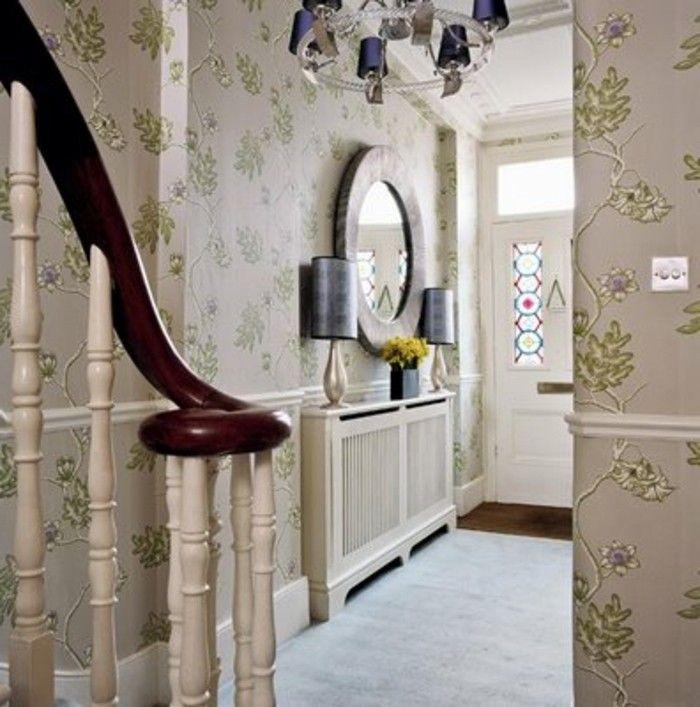 Spiegel Treppen flurgestaltung mit treppen retro spiegel schöne tapete
