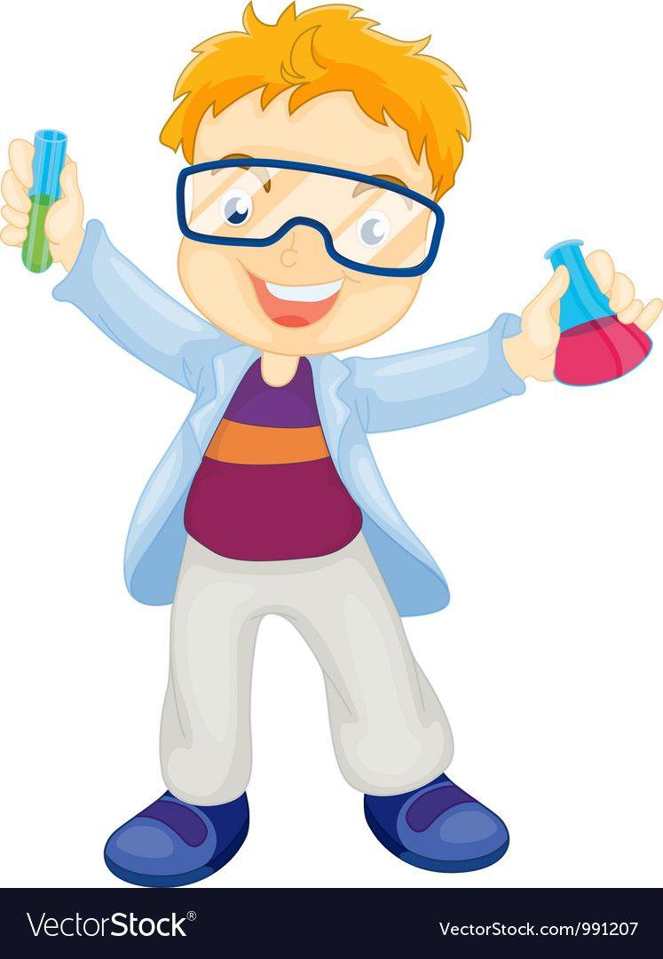 kid scientist vector image on vectorstock animation schools vector free kids kid scientist vector image on