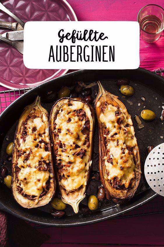 Gefüllte Auberginen mit Hackfleisch und mit Goudakäse Salbei und Knoblauch mit…,  #Aubergin…