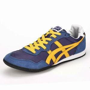 pretty nice d9c75 46a40 Asics Onitsuka Tiger Serrano Blue Yellow Mens Shoes ...