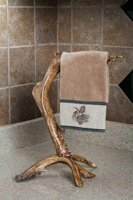 Towel Holder Antlers Decor Faux Antler Deer Decor