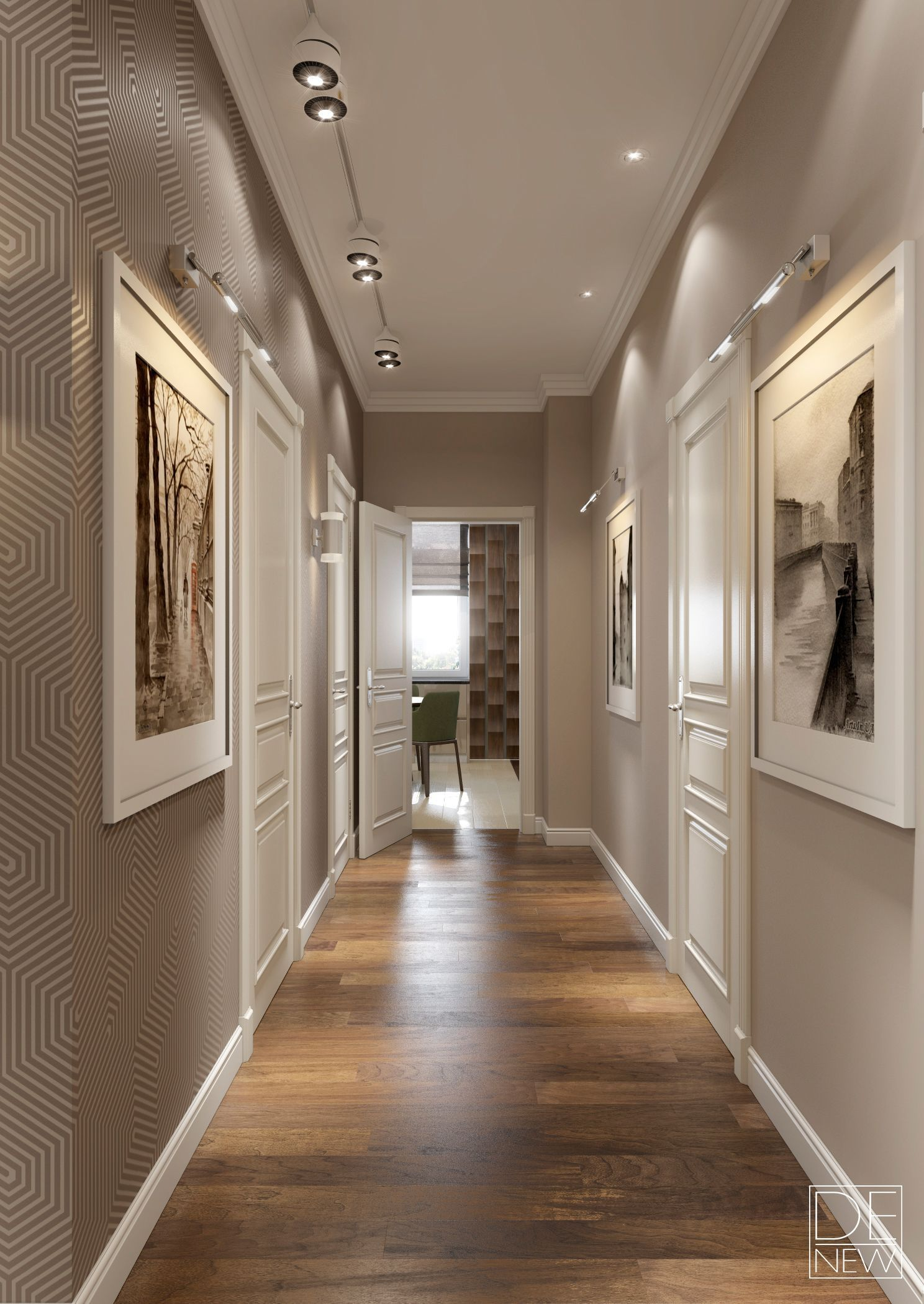 Hallway floor decor  Modern apartment for a young family  Living room ideas  Pinterest