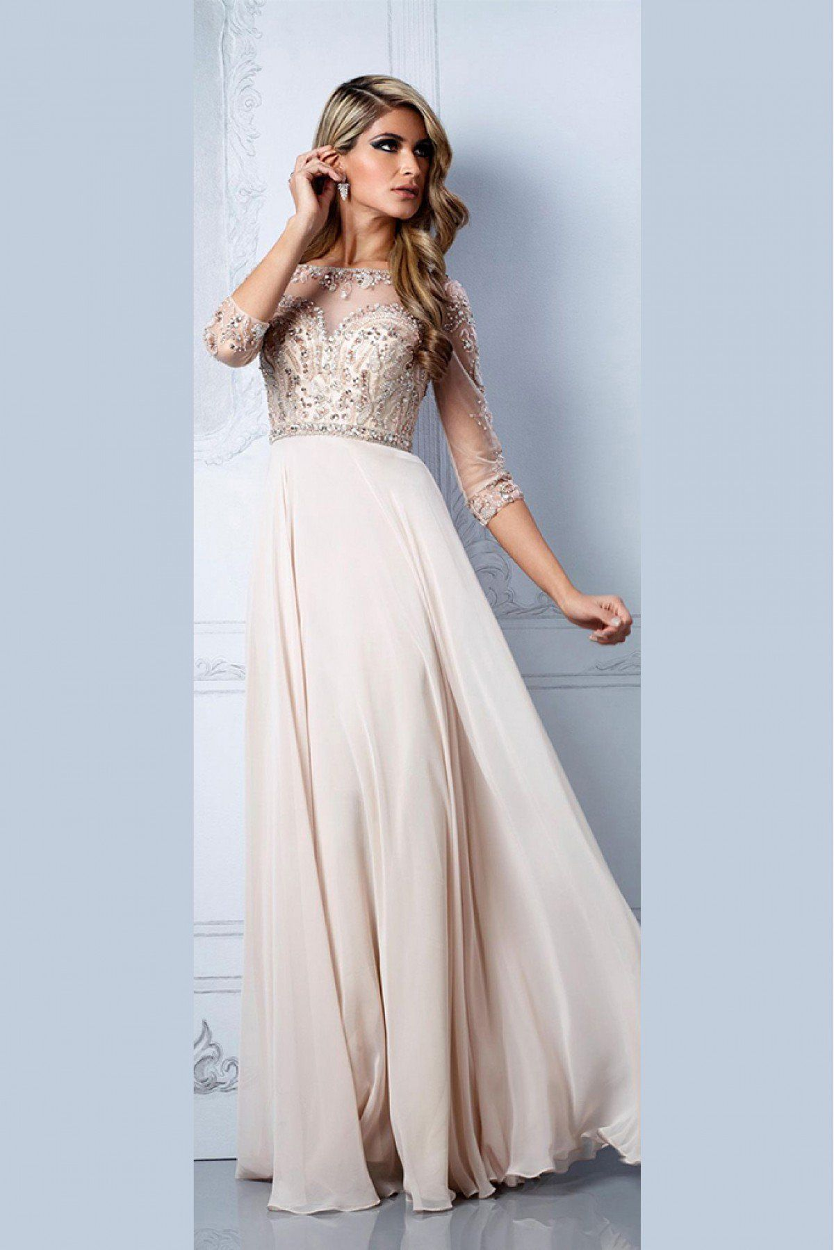 c62a753e6edab Youdesign Georgette Tulle Gown In Cream Colour Size Upto 66 in 2019 ...