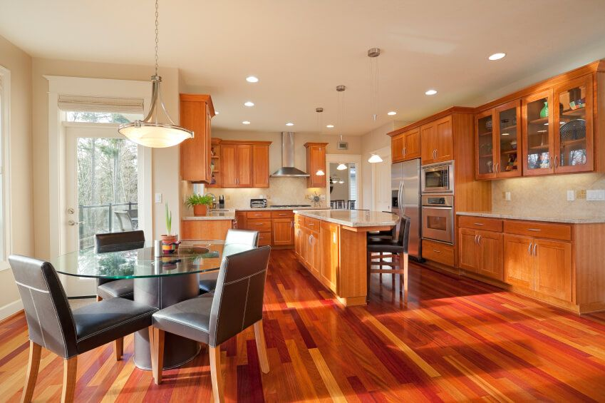 kitchen wood flooring ideas. 52 Enticing Kitchens with Light and Honey Wood Floors  PICTURES