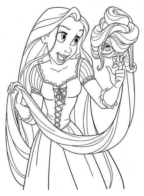 Pin Von Coloring Fun Auf Tangled Disney Prinzessin Malvorlagen Ausmalbilder Disney Malvorlagen