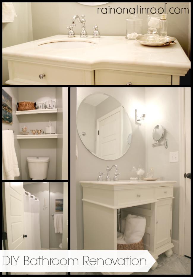Bathroom Renovation On A Budget Pinterest Small Bathroom - Diy bathroom makeover on a budget