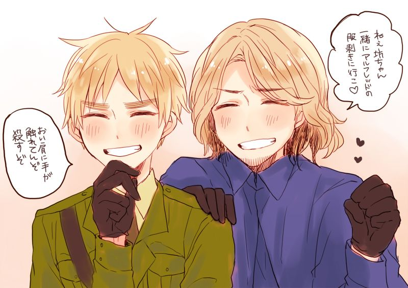 Tags: Axis Powers: Hetalia, France, United Kingdom, Pixiv Id 1128363