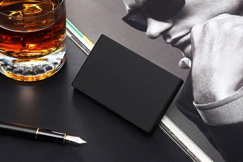 40 Awesome Gift Ideas For Architects And Interior Designers A Minimal Matte Black Business Card Holder