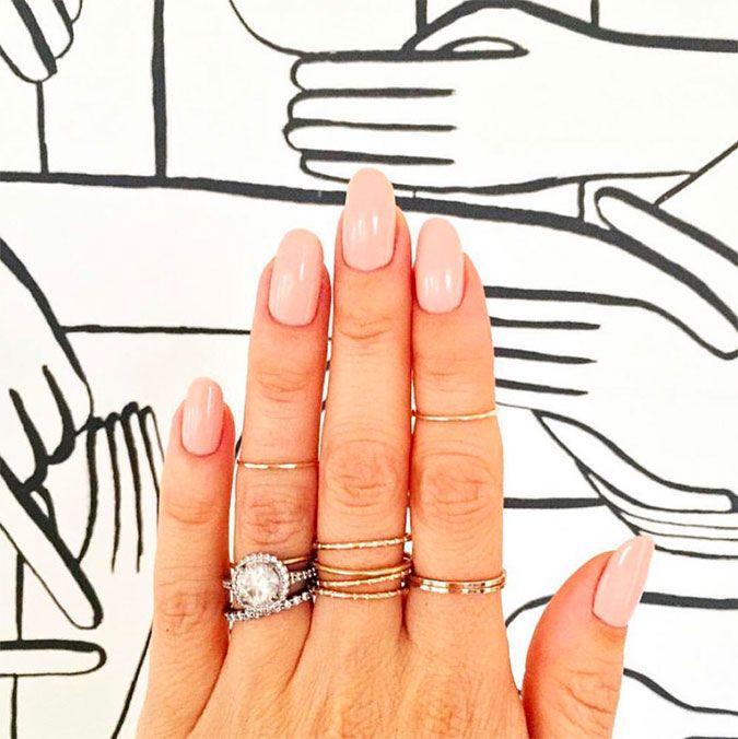 Feminine oval nail shape