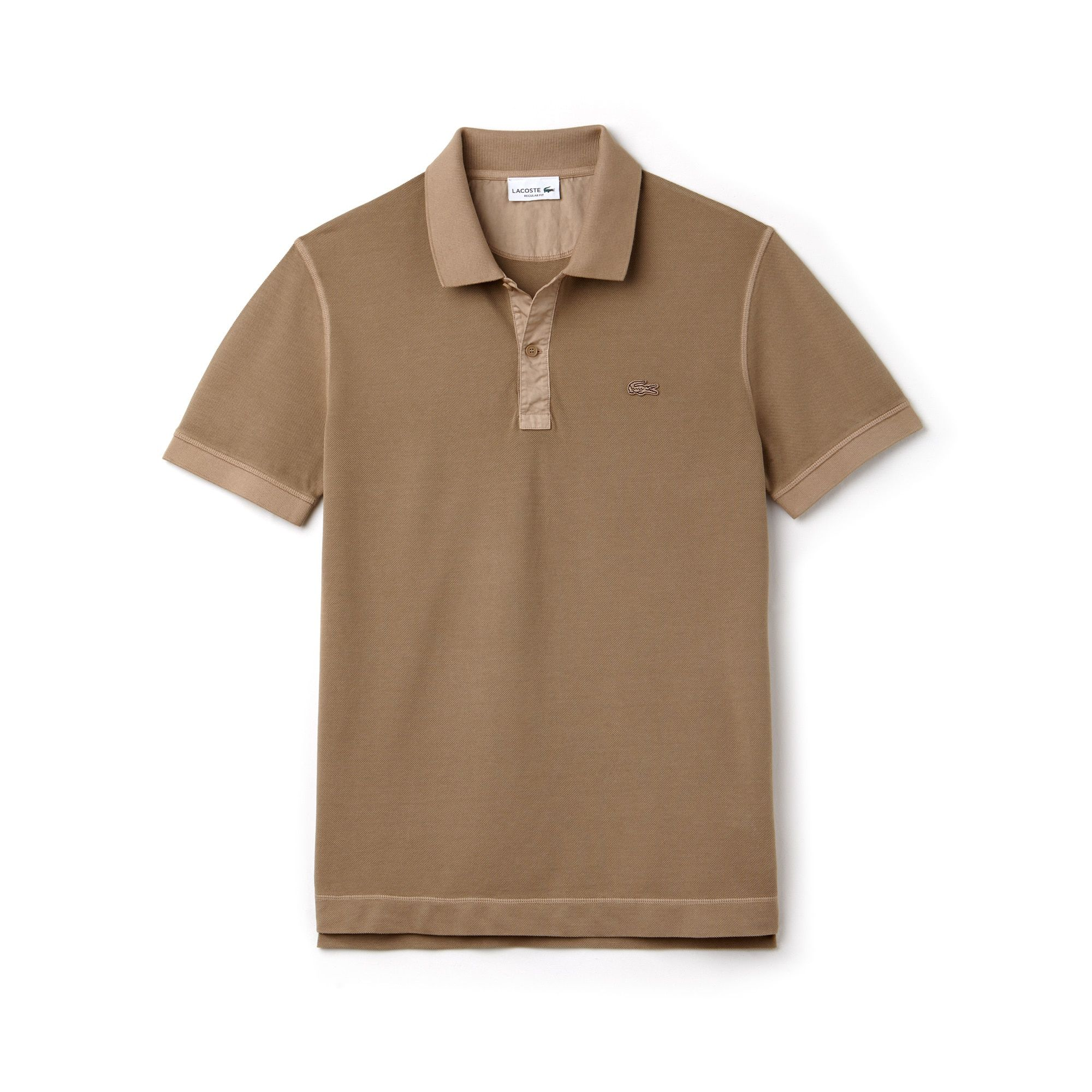 46153ea41a Men's Lacoste Regular Fit Square Knit Polo | LACOSTE | AW19-C | Polo ...