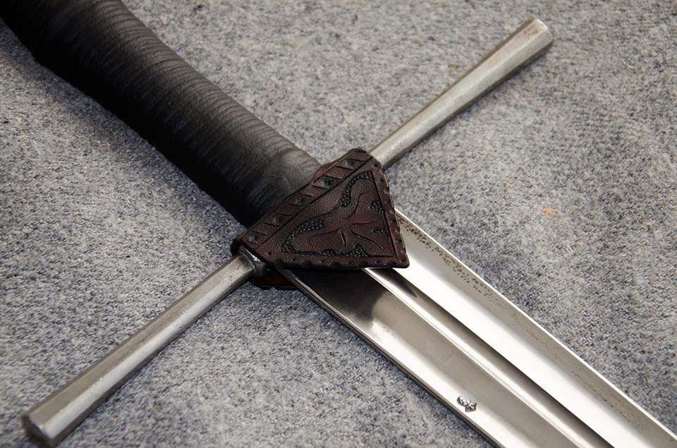 Tooled Rain Guard By 3wunder Leather For 15th Century