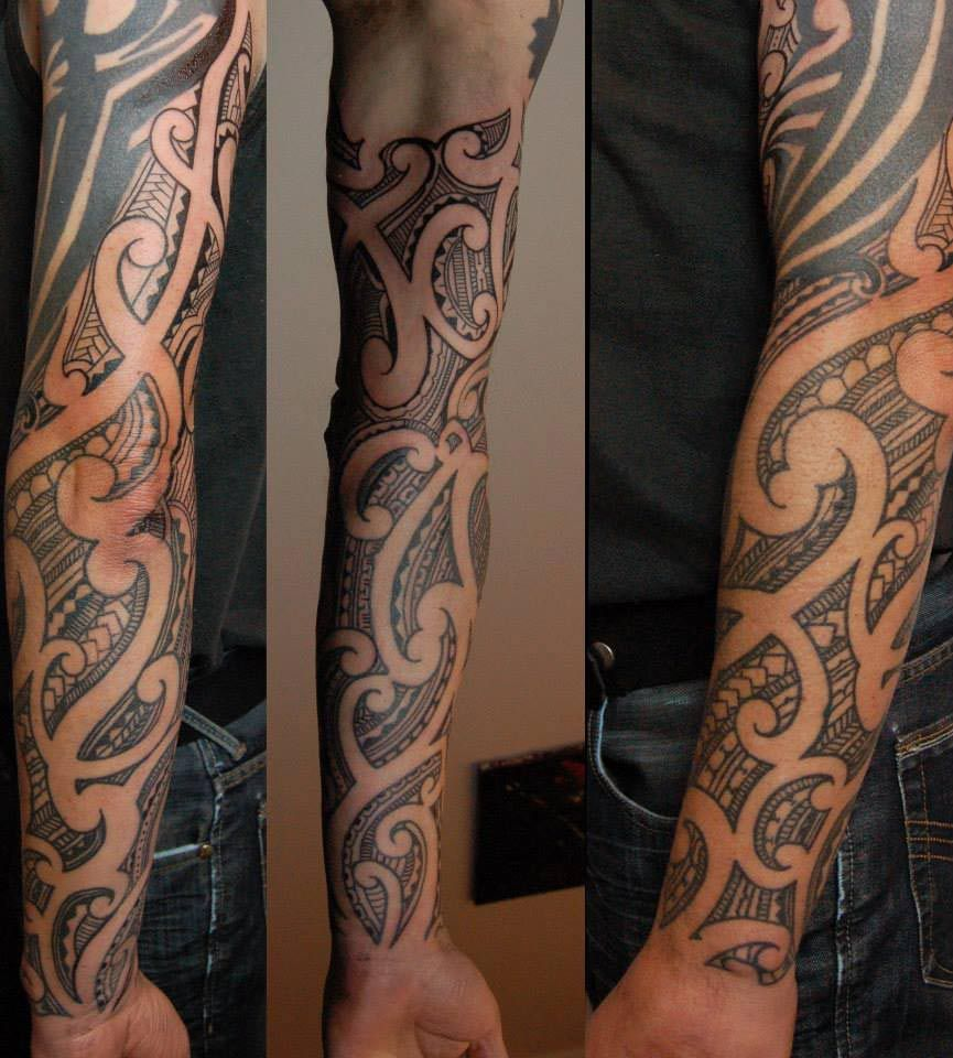 Body Art World Tattoos Maori Tattoo Art And Traditional: Polynesian (New Zealand) Maori Arm & Sleeve Tattoo