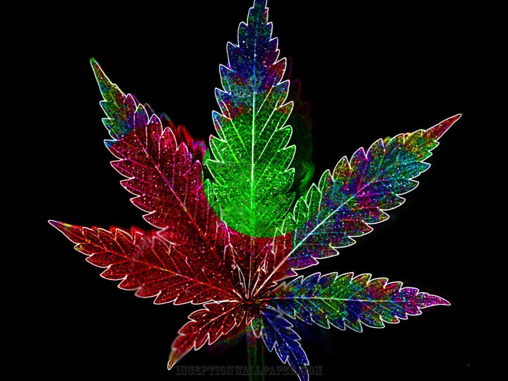 Psychadelic Weed Leaf Weed wallpaper and Ganja