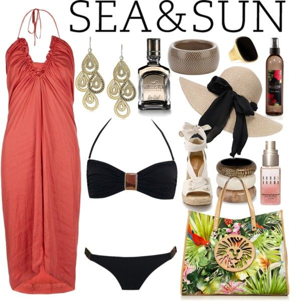 """""""Sea and Sun with Anemone"""" by jemevangelista on Polyvore"""