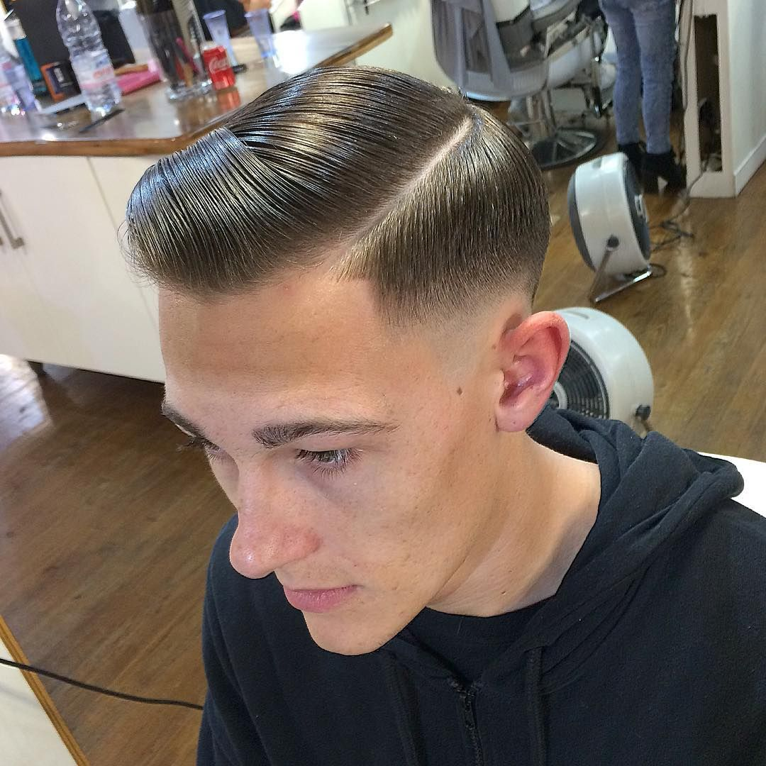 Mens haircuts undercut pin by crew buzz on comb over fade  pinterest  haircuts slicked