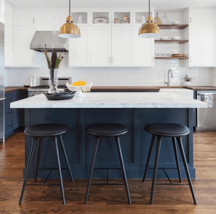 Küchenfarben Navyblau In Der Modernen Küche Mit Weiß Kombinieren