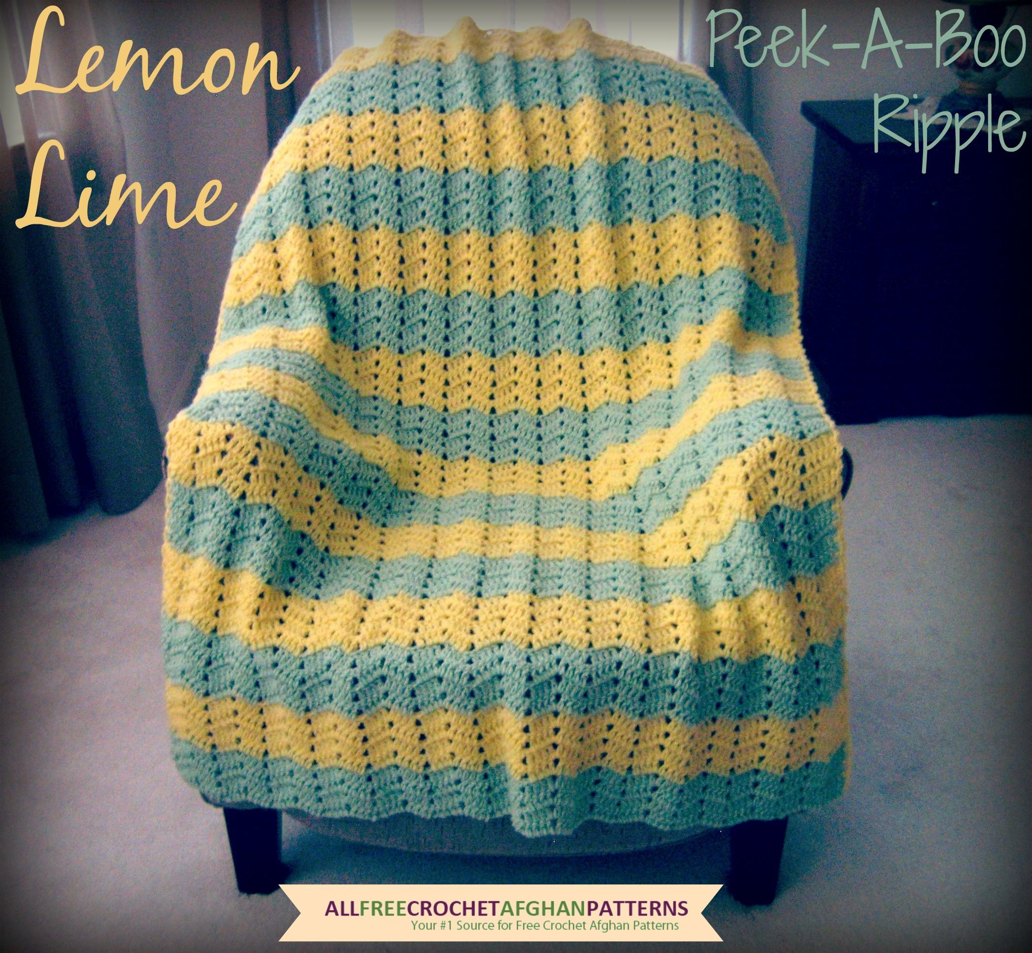 Lemon Lime Peek-A-Boo Ripple | Ripple afghan, Lemon lime and Afghans